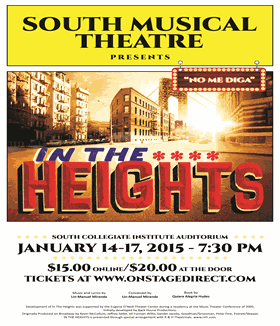 In the Heights – January 14-17, 2015